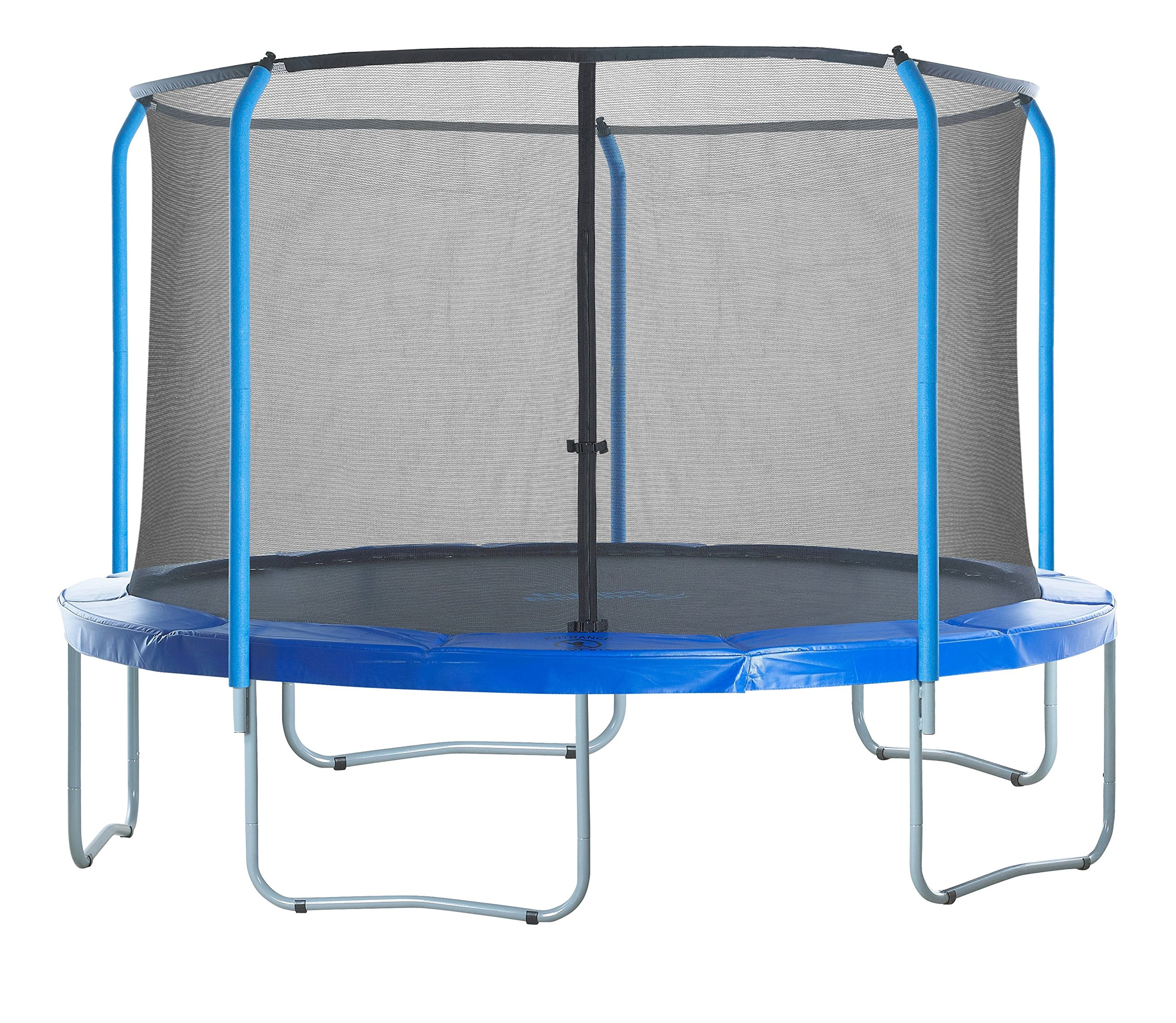 SKYTRIC Trampoline Enclosure Net (Universal) 15 ft Frame: 5 Curved Pole: with Top Ring Enclosure Systems -Sleeve on top Type- by SKYTRIC (Image #7)