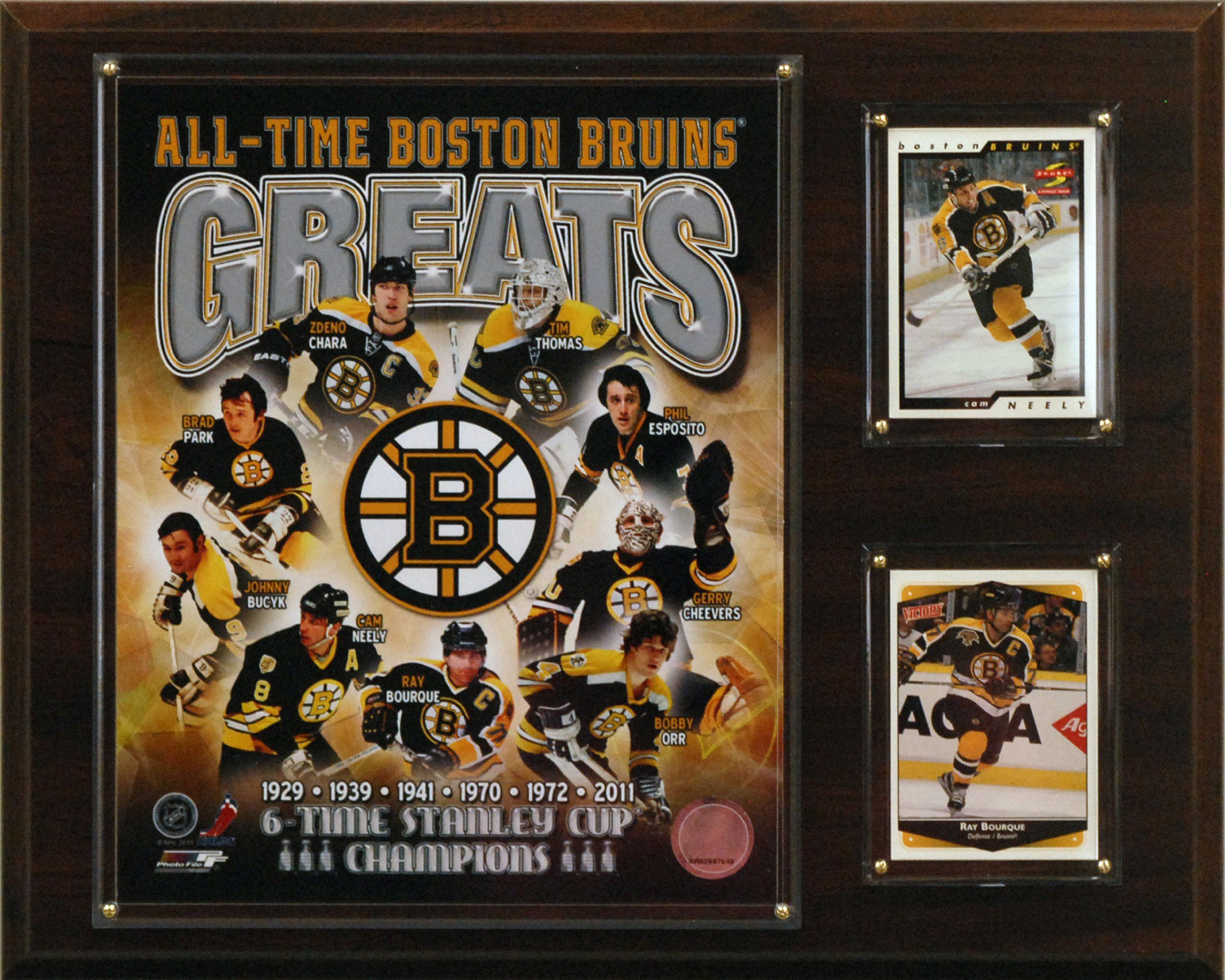 NHL Boston Bruins All-Time Greats Photo Plaque by C&I Collectables