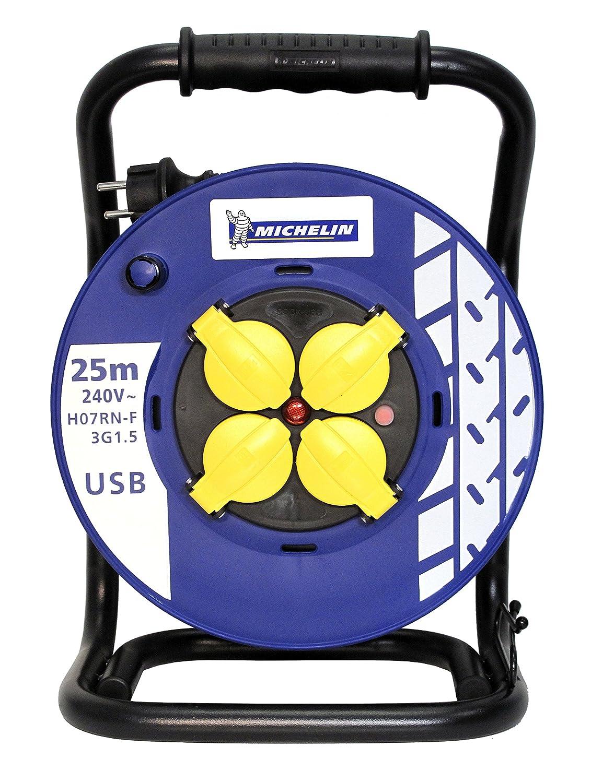 Michelin BTEM41P52 25 - Carrete Profesional 25 BTEM41P52 m H07RNF 3g toma USB 1.5 mm a3f1f6