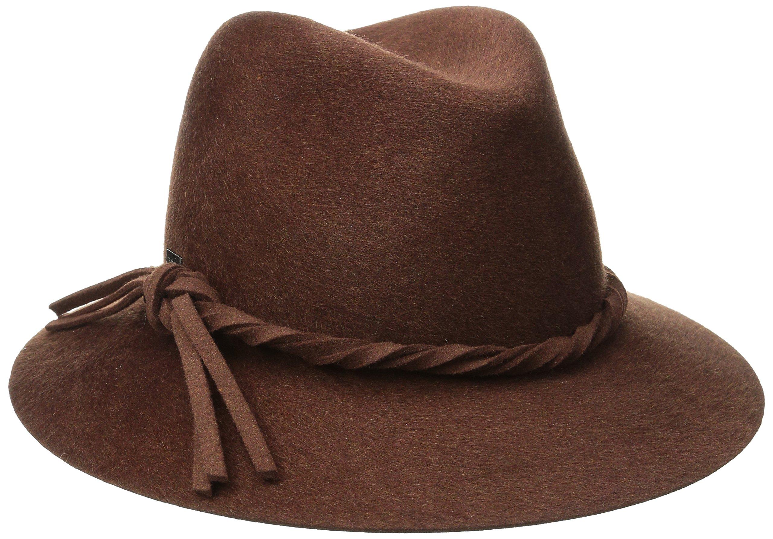 Betmar Women's Charlie Felted Fedora Hat, Walnut, Medium/Large