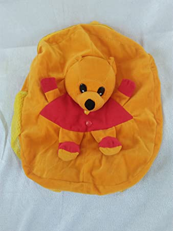 SRT Fur 5 Liters Yellow & lite Red Childrens Backpack