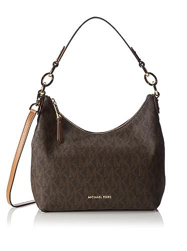 7fa8f0dfb2c0ad MICHAEL Michael Kors Isabella Medium Convertible Shoulder Bag (Signature  Brown): Handbags: Amazon.com