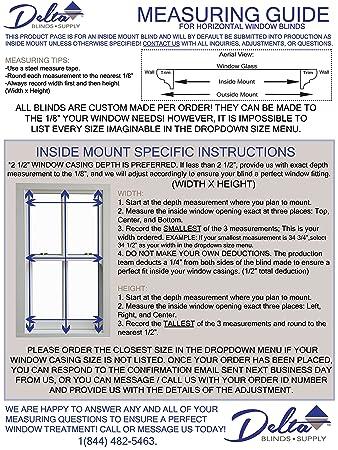 Amazon.com: Custom-Made Faux Wood Horizontal Window Blinds, 2 Inch ...