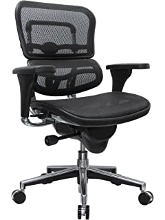 Amazon.com: Ergohuman High Back Swivel Chair with Headrest, Black ...