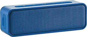 AmazonBasics 9-Watt Bluetooth Stereo Speaker with Water Resistant Design - Blue