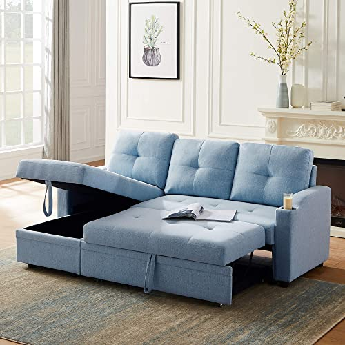 Merax 80.7'' Reversible Sleeper Sectional Sofa Couch