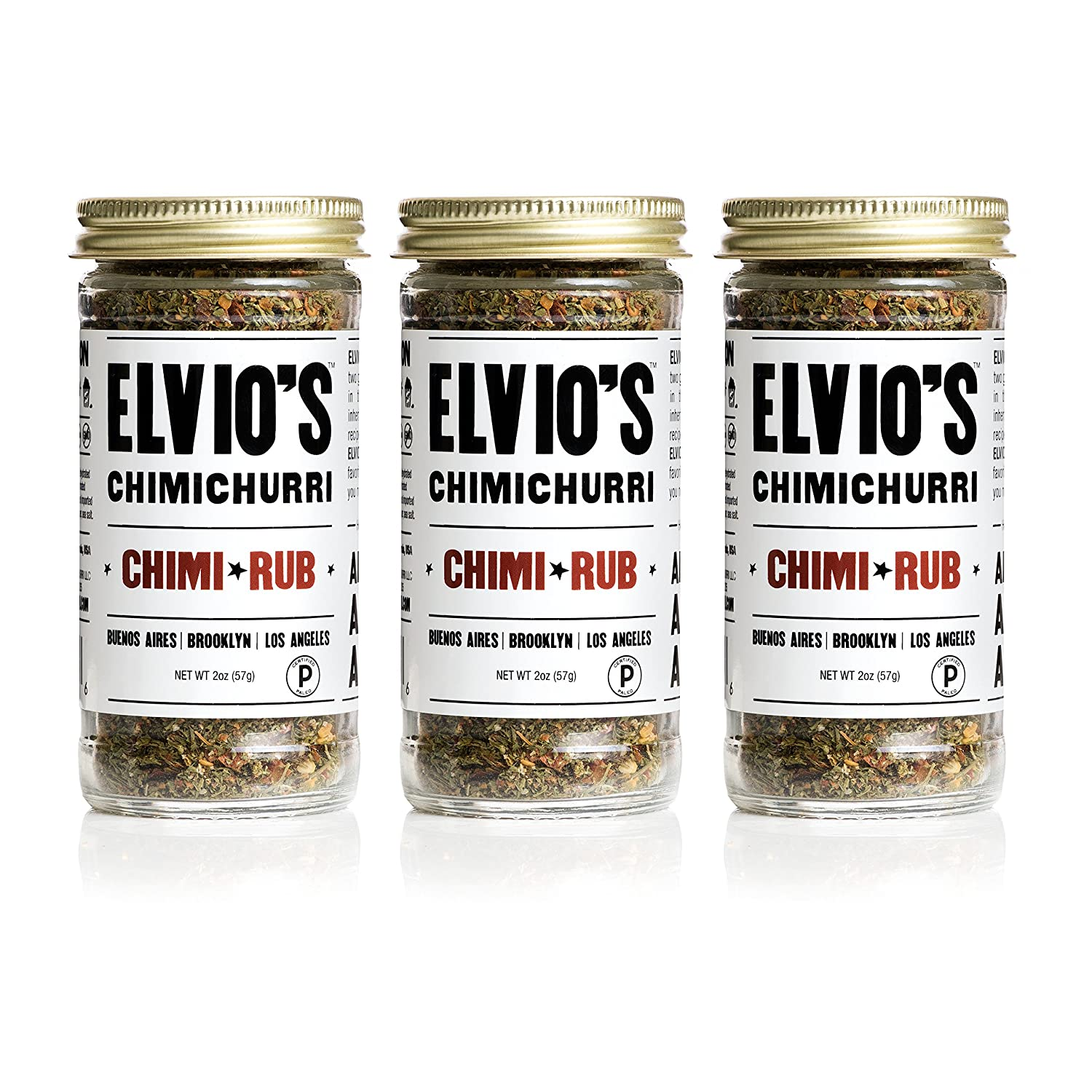 ELVIO'S CHIMICHURRI -CHIMI RUB Spice Mix (2oz), Pack of 3