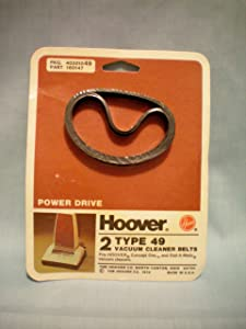 Hoover Power Drive Type 49 Vacuum Cleaner Belts -- Fits Hoover Concept One and Dial-a-Matic Vacuum Cleaners -- Pkg of 2