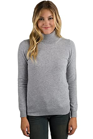 JENNIE LIU Women's 100% Pure Cashmere Long Sleeve Pullover ...