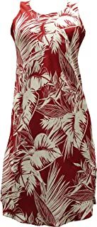 product image for Paradise Found Womens Tropical Jungle Short Tank Dress RED M