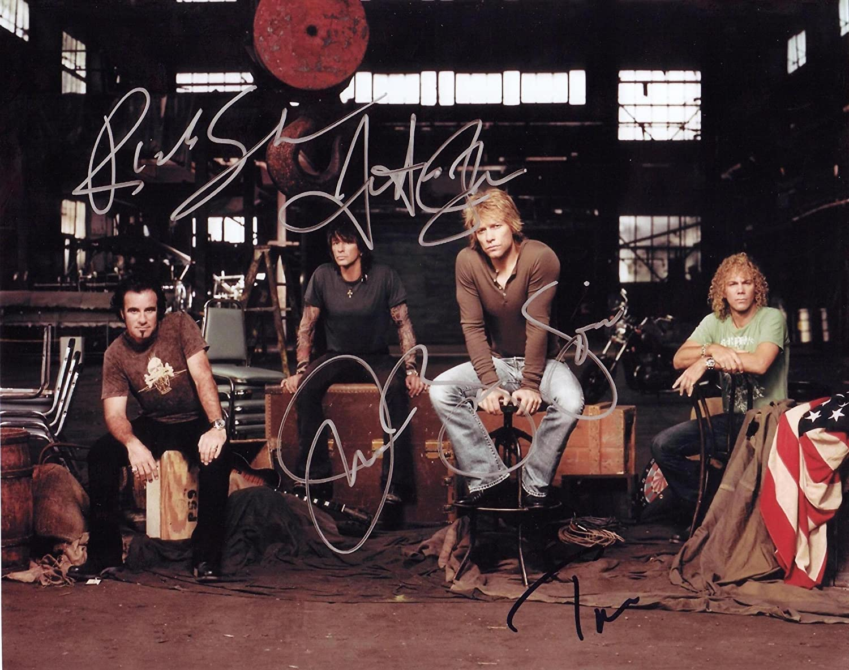 Bon Jovi Group Autographed Signed 8 X 10 Reprint Photo - Mint Condition