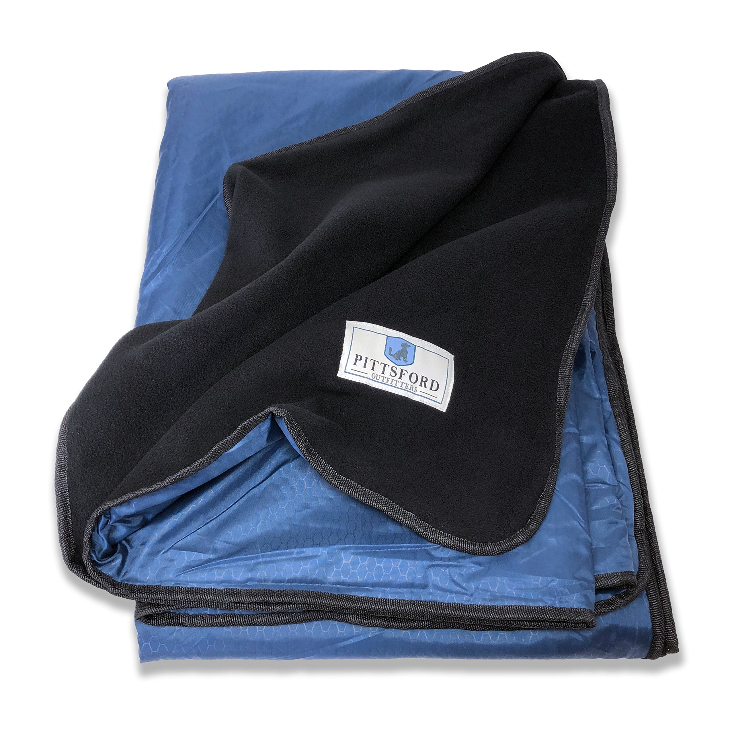 Pittsford Outfitters Spectator Outdoor Blanket   All Purpose Extra Large Rainproof & Windproof Stadium, Camp, Beach, or Picnic Blanket with Extra Soft, Plush & Warm Fleece Backing by Pittsford Outfitters