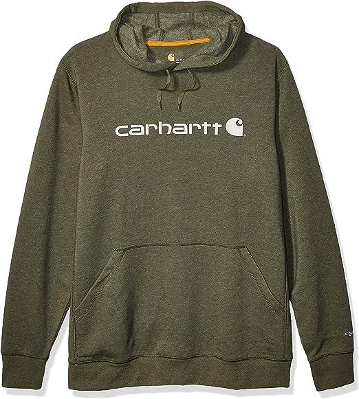 Carhartt Mens Force Delmont Signature Graphic Hooded Sweatshirt