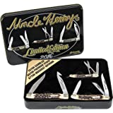 Uncle Henry Schrade 2016 Limited Edition Pocket Knife Gift Set with Tin 3 Knives