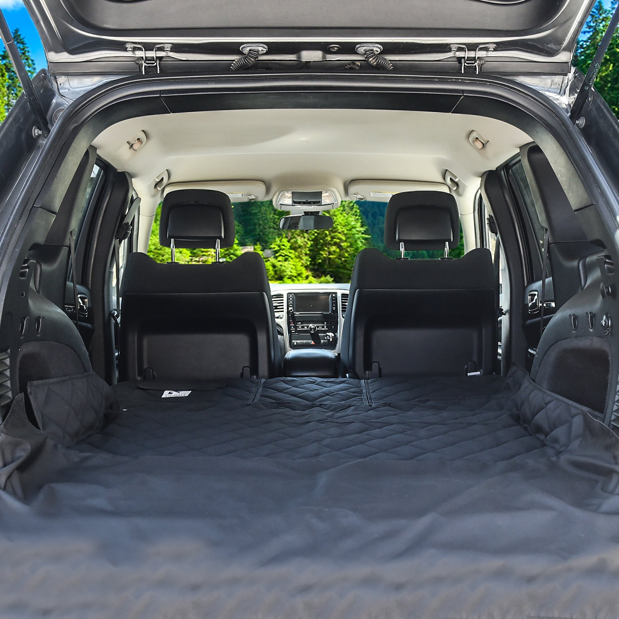 Dog Cargo Liner for SUV, Van, Truck & Jeep - Waterproof, Machine Washable, Nonslip Pet Seat Cover with Bumper Flap will keep your vehicle as clean as ever - XL, Universal Fit - BONUS Carry Bag by WE LOVE ANIMALS (Image #5)