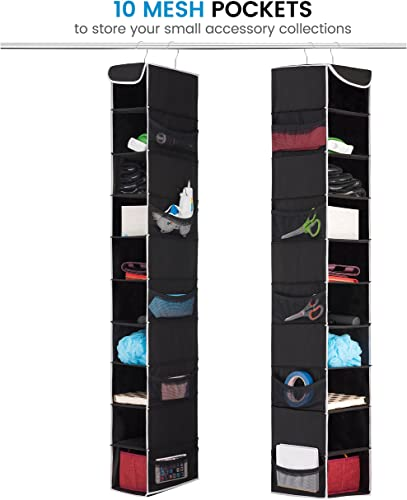 ZOBER 10-Shelf Hanging Shoe Organizer