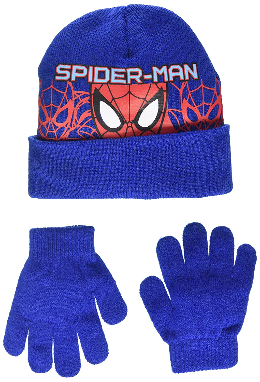 DC Comics Spiderman Headcut Set cappello e guanti Bambino