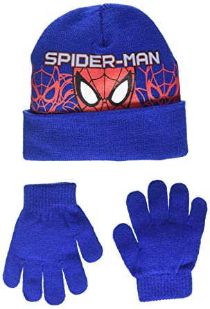DC Comics Boy s Spiderman Headcut Hat   Glove Set bded54cde642