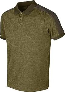 Härkila Tech Poloshirt - Polo ligero y elástico para hombre de caza con tratamiento Polygiene® - Antibakterielles Sport Shirt verde para cazadores y deportes: Amazon.es: Ropa y accesorios