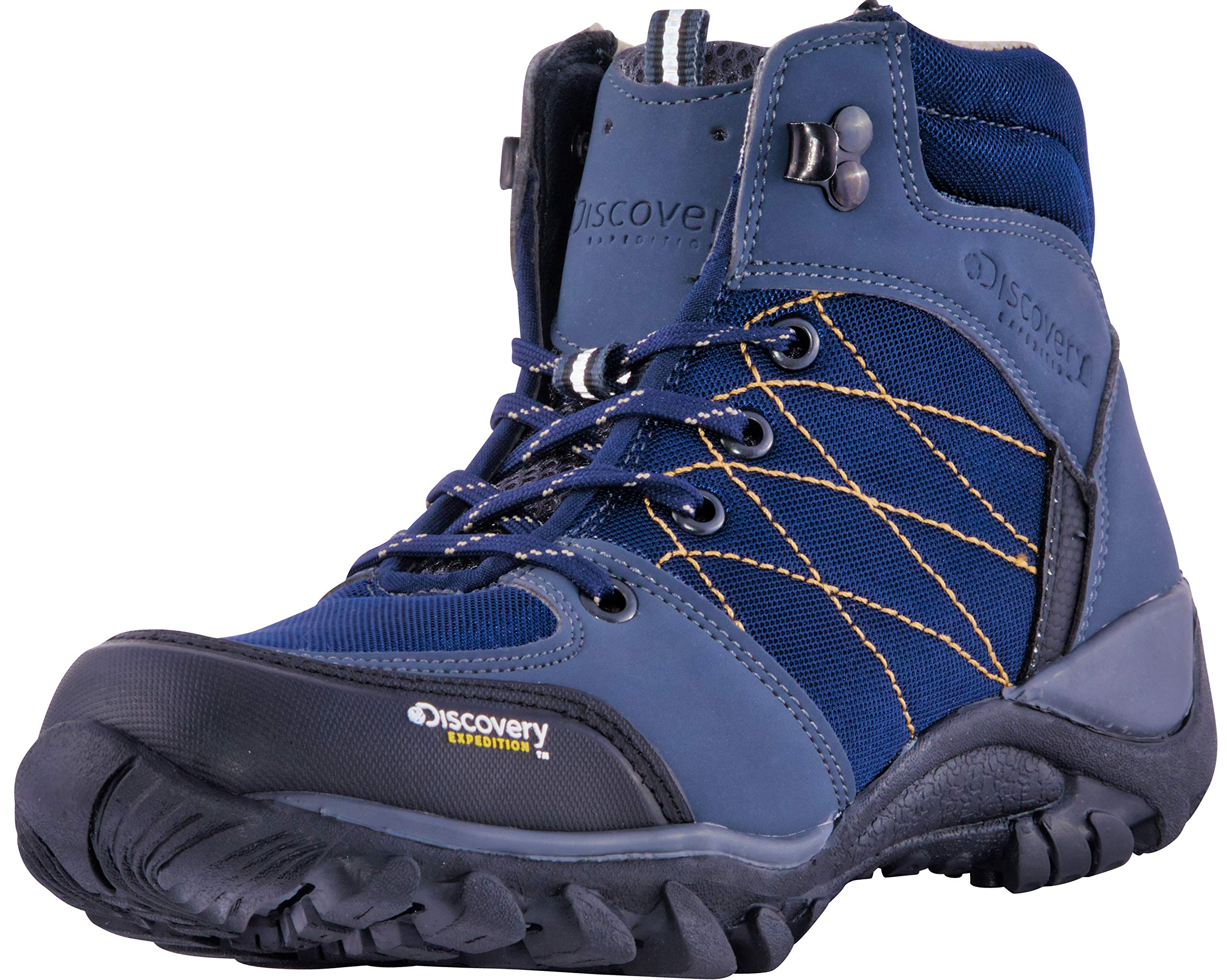 Discovery EXPEDITION Women's Rugged Outdoor Mid Hiking Backpacking Boot (9, Blue) by Discovery EXPEDITION