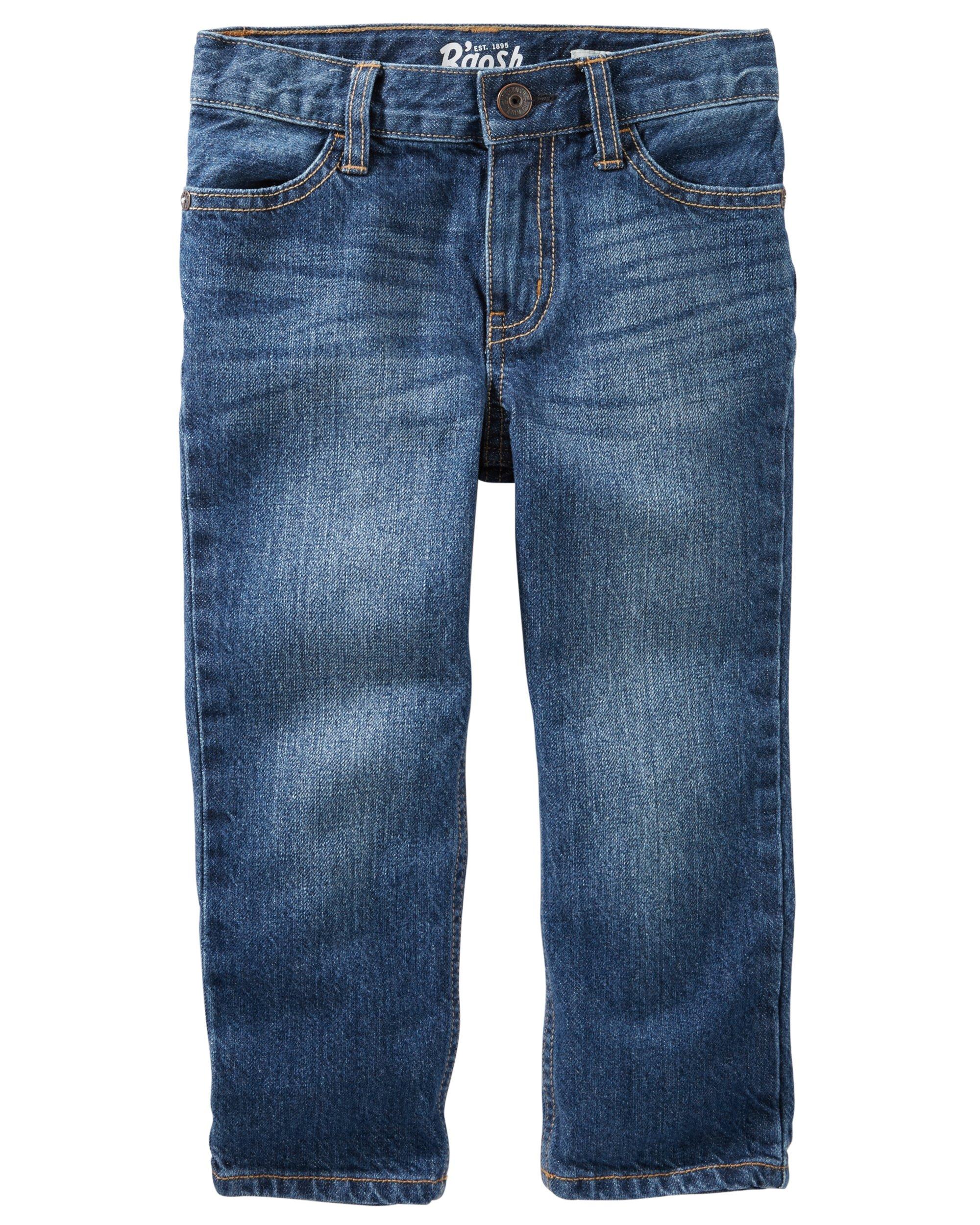 Osh Kosh Boys' Straight Jeans, Anchor Dark, 4T
