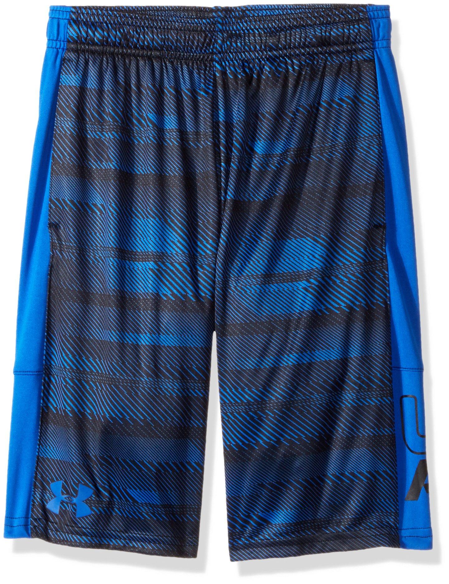 Under Armour Boys' Instinct Printed Shorts, Ultra Blue /Black Youth Medium