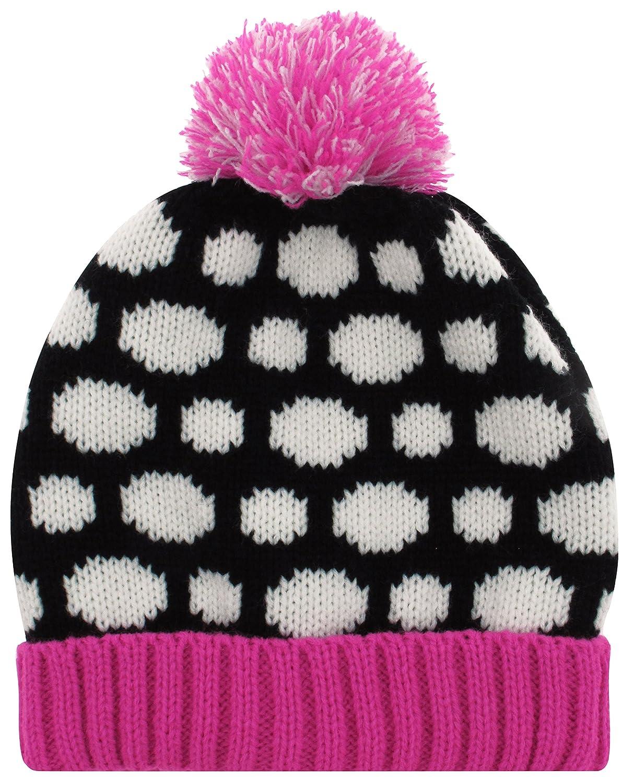 Capelli New York Girls Polka Dot Skull Cap and Magic Glove Set
