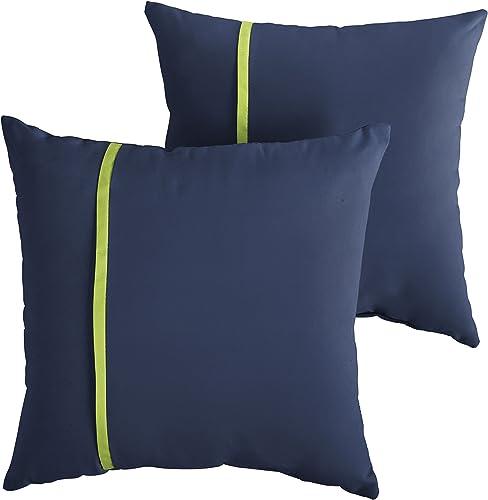 Mozaic Company AMPS112198 Indoor Outdoor Sunbrella Square Pillow