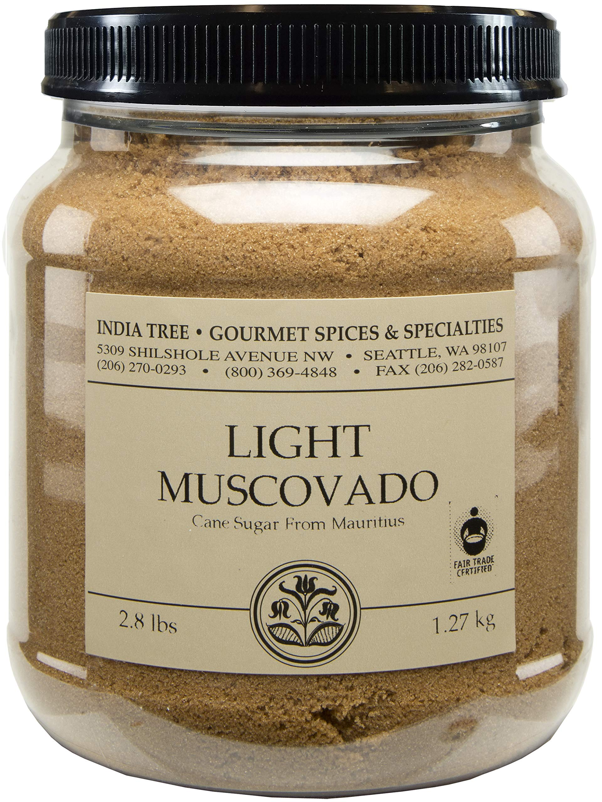 India Tree Light Muscovado Sugar, 2.8 lb (Pack of 2) by India Tree