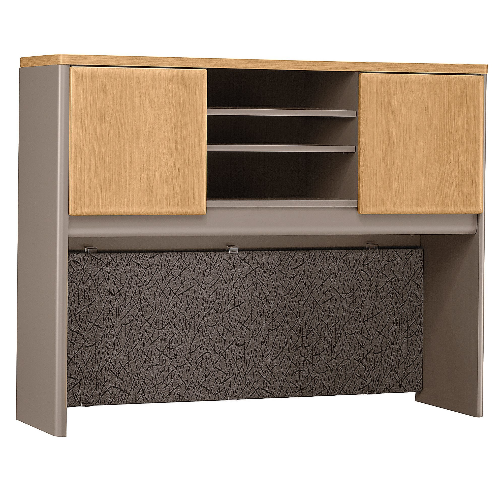 Bush Business Furniture Series A Collection 48W Hutch in Light Oak