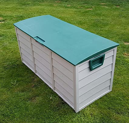 Coffre de rangement en plastique pour jardin extérieur 248 L: Amazon ...