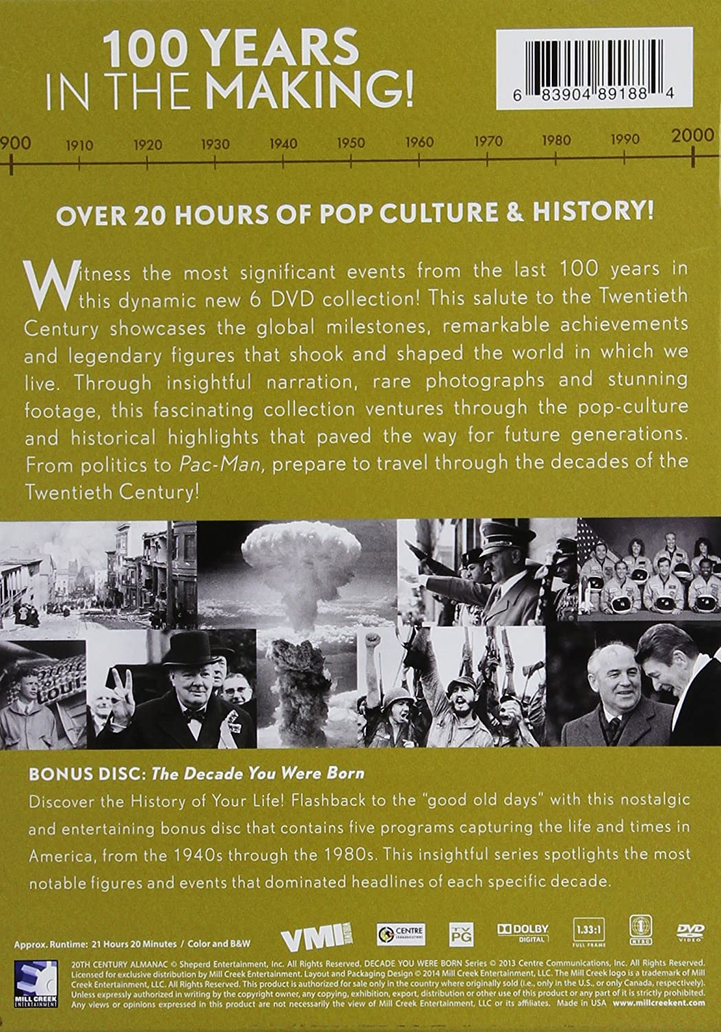 Amazon com: 20th Century Timeline - 6 DVD Collection: Various