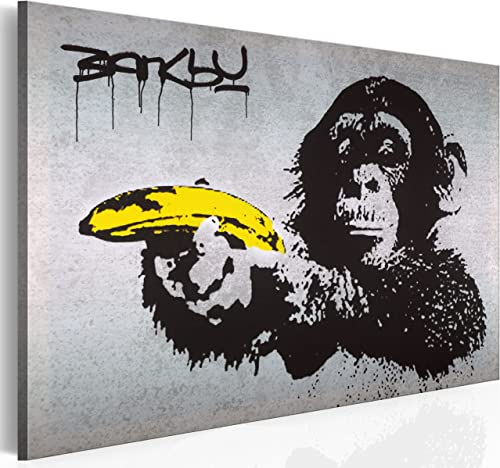 artgeist Handart Canvas Wall Art Banksy 35.4″x23.6″ Painting Canvas Prints Picture Artwork Image Framed Contemporary Modern Photo Wall Home 030115-40