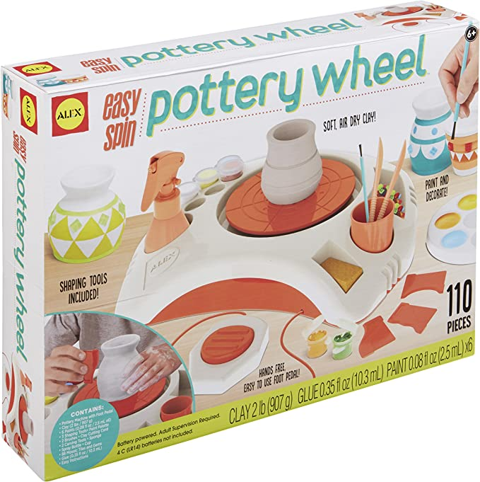 Alex 500130 5 Easy Spin Pottery Wheel Art Craft Set Amazon Co Uk Toys Games