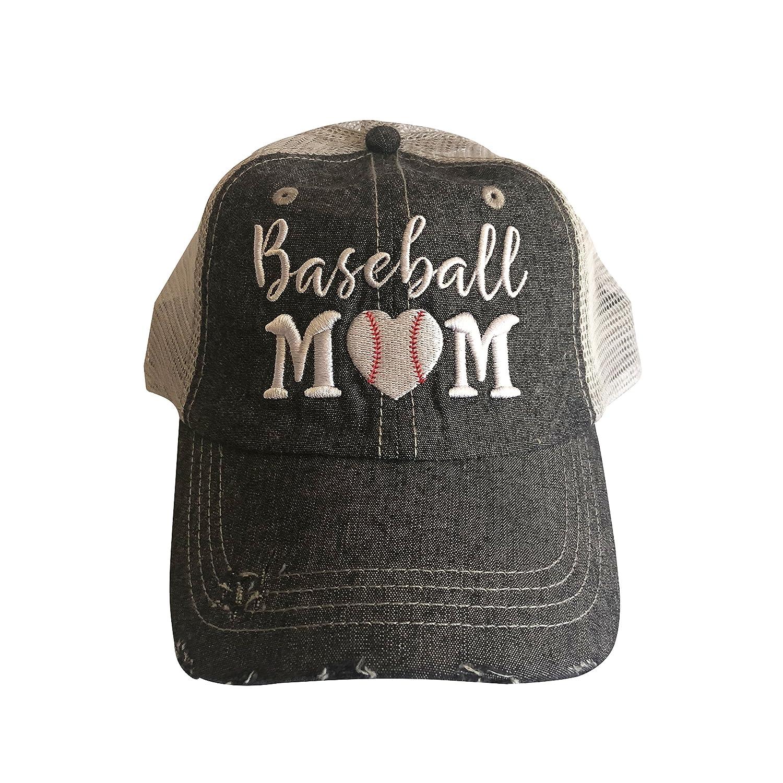 73ff0972f62 Amazon.com  Cocomo Soul Embroidered Baseball Mom Mesh Trucker Style Hat Cap  Dark Grey  Clothing