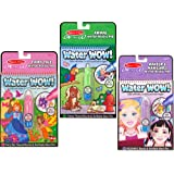 Melissa & Doug On The Go Water Wow Bundle - Makeup & Manicures, Fairy Tale and Animals