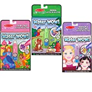 Melissa & Doug On the Go Water Wow! Reusable Water-Reveal Activity Pads, 3-pk, Makeup, Fairy Tales, Animals