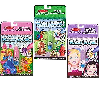Amazon.com: Melissa & Doug On-the-Go Water Wow! Fairy Tale, Makeup ...