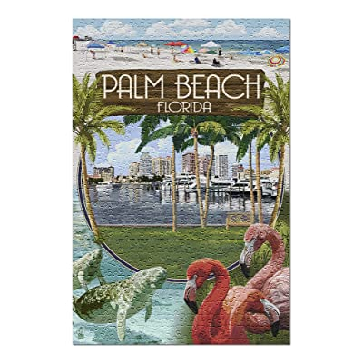 Palm Beach, Florida - Montage Scenes (Premium 500 Piece Jigsaw Puzzle for Adults, 13x19, Made in USA!): Toys & Games