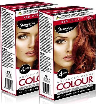 Tinte para el cabello Chilli rojo, fácil de usar, resistente ...