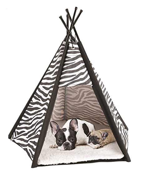 Etna Portable Lightweight Teepee Pet Tent - Warm and Cozy With Soft Bed Padding For Dogs  sc 1 st  Amazon.com & Amazon.com : Etna Portable Lightweight Teepee Pet Tent - Warm and ...