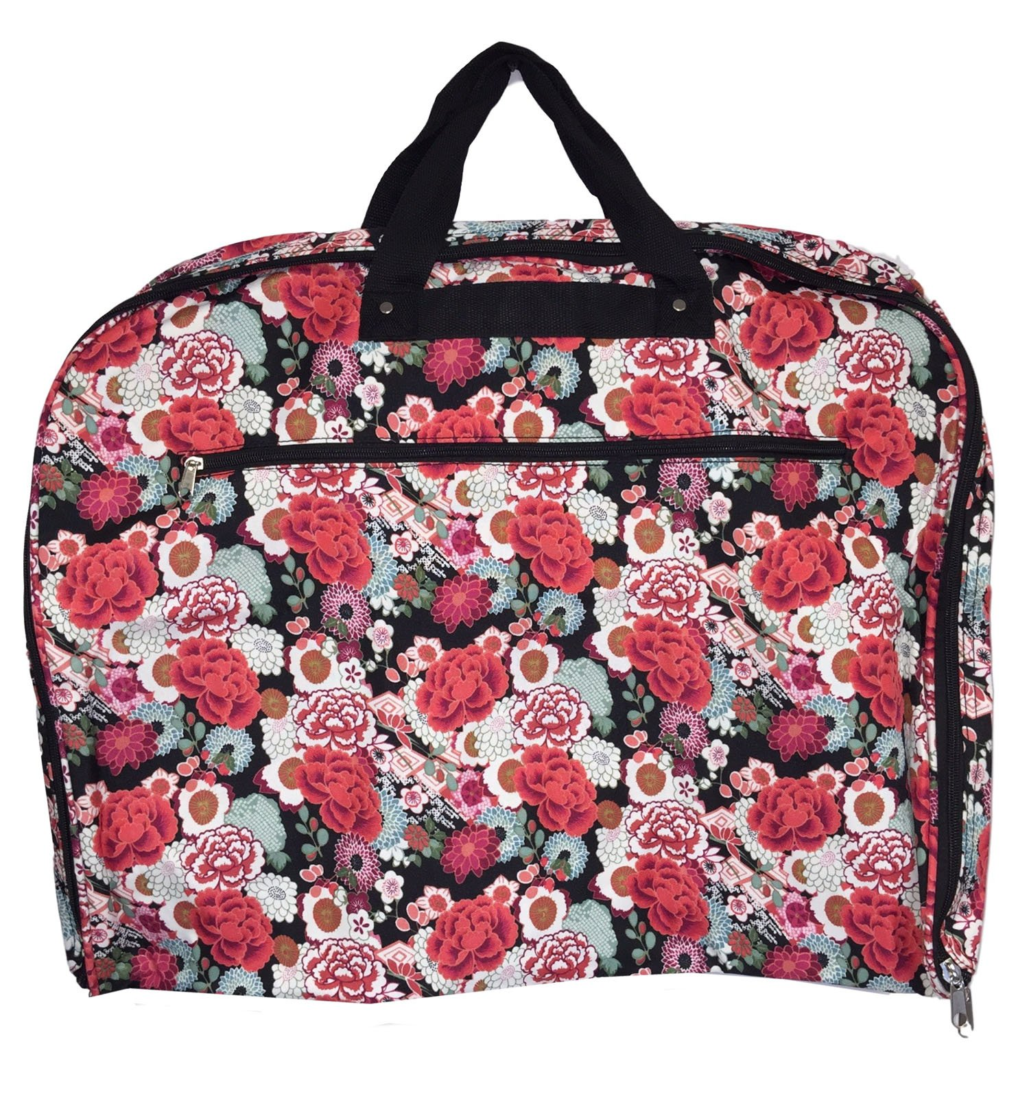 Fashionable Travel Garment Bags with Extended Hanger - Custom Embroidery Available (Flora Garden)