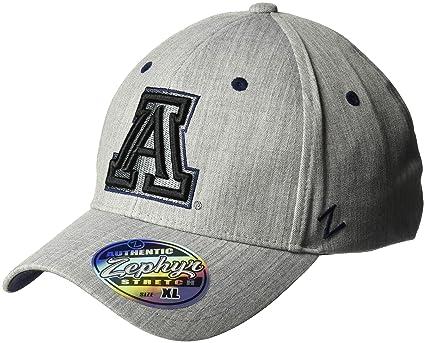 ba571056f1c44b ZHATS NCAA Arizona Wildcats Mens Tailoredtailored Stretch Cap, Grey,  Medium/Large