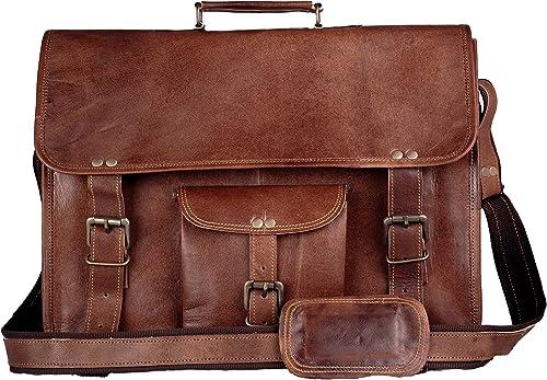 Handmadecart Leather Messenger Bag for Men and Women (15 inch)