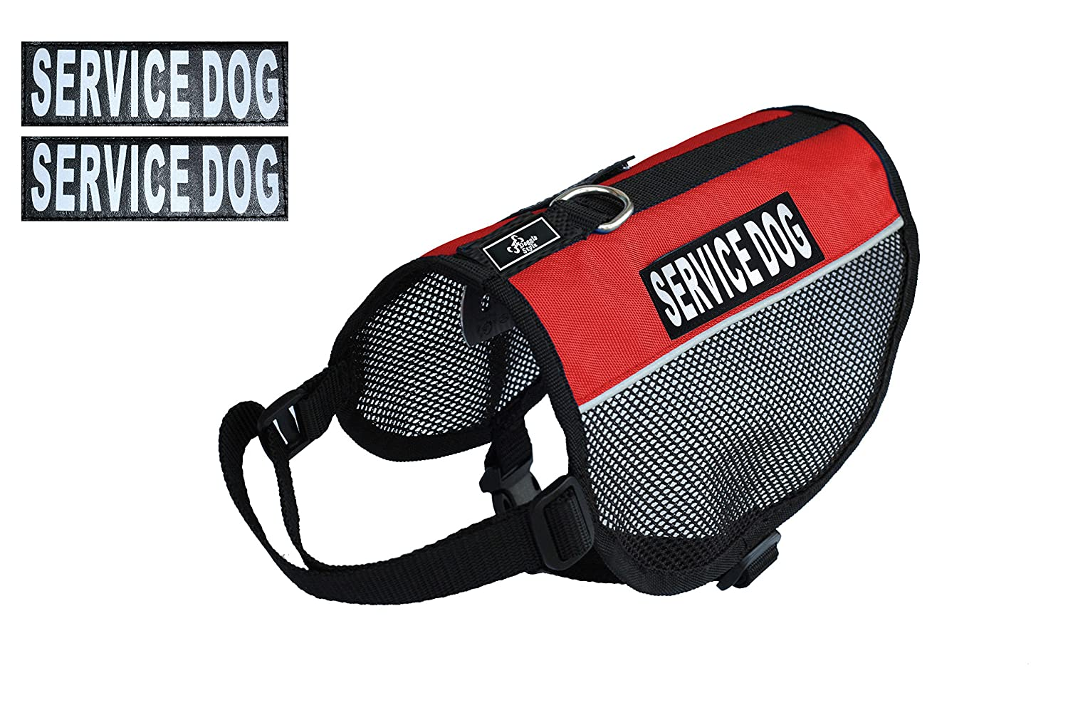 Red Girth 8-10\ Red Girth 8-10\ Service Dog mesh Vest Harness Cool Comfort Nylon for Dogs Small Medium Large Purchase Comes with 2 Reflective Service Dog Removable Patches. Please Measure Your Dog Before Ordering