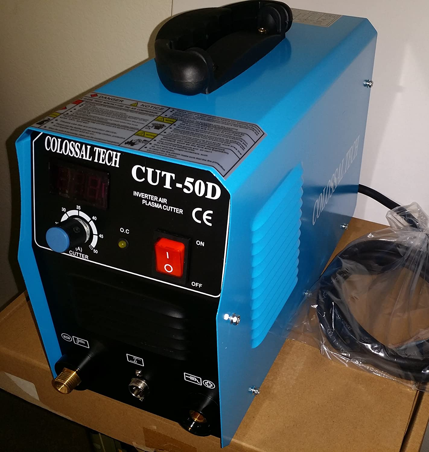 Plasma Cutter Cut50d New 50amps 110v Or 220v 1 2 Inch Cut Inverter Two Way Switch For Cutting Machine And Comes With 40 Free Consumables Dual Voltage