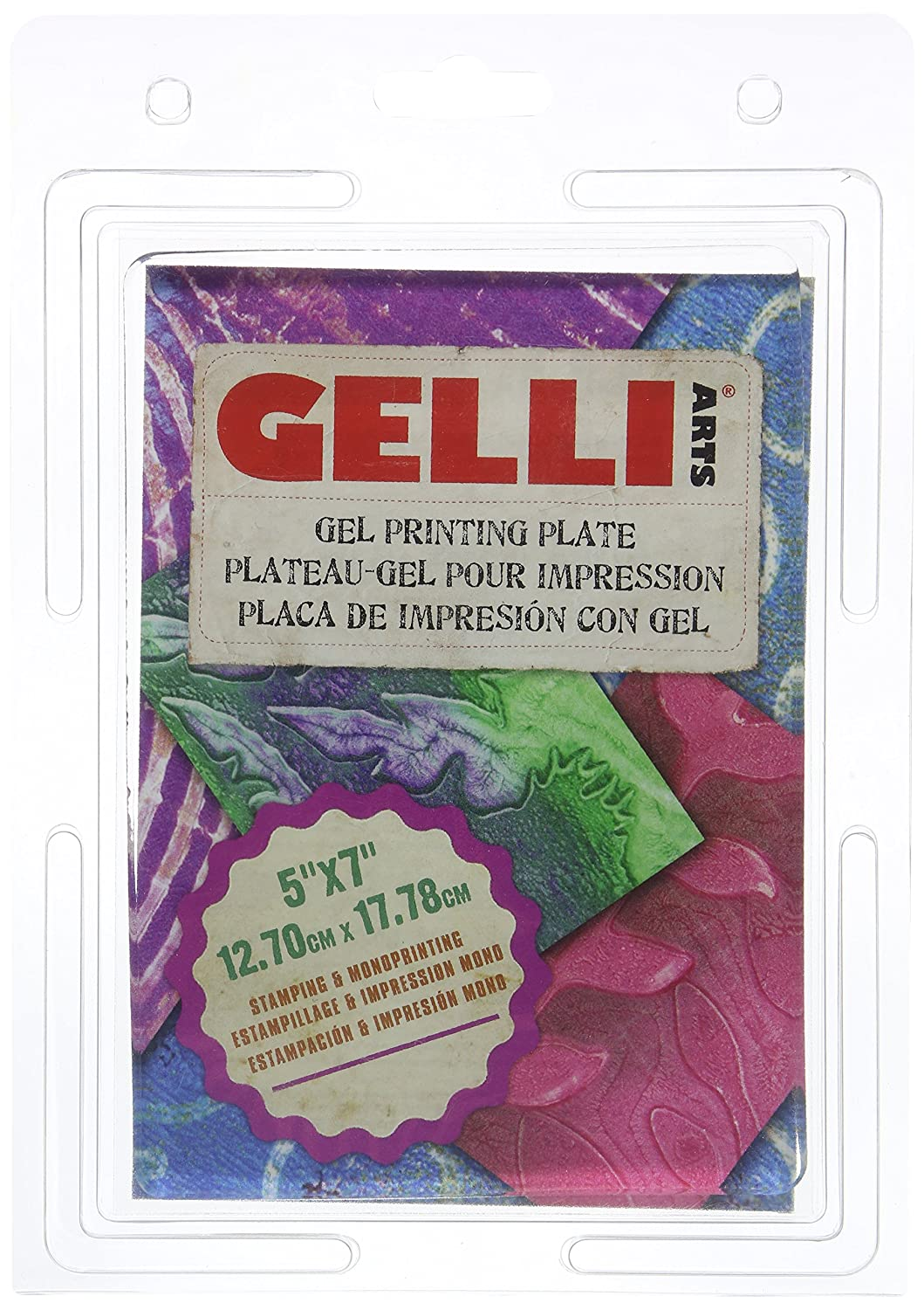 Gelli Arts Gel Printing Plate 5X7 Inches GL5x7