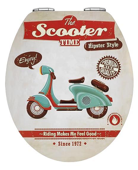 wenko 21598100 wc sitz vintage scooter metal plate oberflche absenkautomatik metall