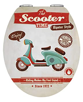 Wenko 21598100 Abattant Vintage Scooter, MDF/ avec Plaque ...
