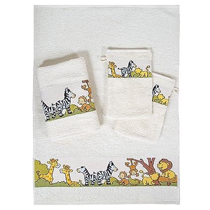 Dyckhoff 1451213200 - Conjunto de toallas infantiles (2 toallas de mano: 50 x 70